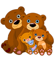 Bear family vector image
