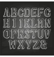 capital letters on chalkboard vector image