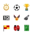 Soccer realistic icons vector image