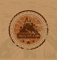 the mountain grunge sticker vector image