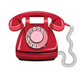 Telephone icon red vector image