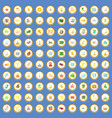 100 wealth icons set cartoon vector image vector image