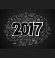 2017 new year infograph and business plan vector image vector image