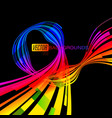 abstract shapes colors on a black scene vector image vector image