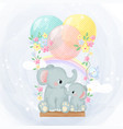 adorable elephant motherhood
