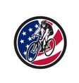 American cyclist cycling usa flag icon