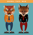 Animal Face Man vector image vector image