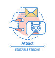 Attract concept icon inbound marketing method