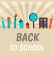 back to school sunrise background flat style vector image