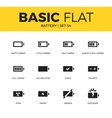 basic set battery icons vector image