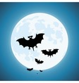 Bats in the night vector image