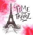 beautiful image of Paris on watercolor background vector image vector image
