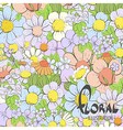 Beautiful summer flowers vector image vector image