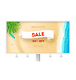 billboard for actions sales sale get up to 50 vector image vector image