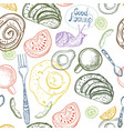 breakfast time pattern vector image vector image