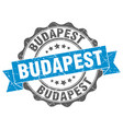 budapest round ribbon seal vector image vector image