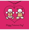 Card Happy Valentines Day vector image