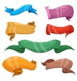 Cartoon banners and comic ribbons set vector image