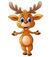 cartoon deer presenting vector image vector image