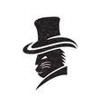 cat gangster logo vector image vector image
