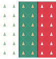christmas and happy new year pattern seamless vector image vector image