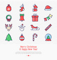 christmas and new year celebration set vector image vector image