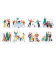 christmas people winter family holidays decorate vector image vector image