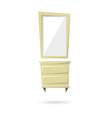 Commode and mirror isolated on a white backgrounds vector image