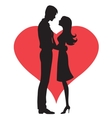 Couple concept Silhouette of man and womans vector image vector image