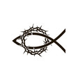 crown thorns with fish vector image vector image