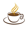 cup of coffee symbol vector image