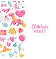 cute cartoon magic and fairytale vector image