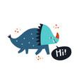cute dino made in dinosaur vector image