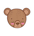 cute little bear head icon vector image