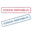 czech republic textile stamps vector image vector image