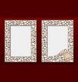 decorative photo frames template set vector image