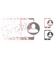 dissipated pixel halftone phone user profile icon vector image vector image