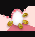 easter background with realistic decorative gold vector image vector image