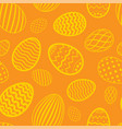 easter egg seamless pattern bright color holiday vector image