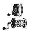 fishing reel silhouette vector image vector image