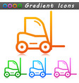 forklift sign symbol icons vector image vector image