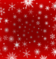 Frosted Snowflakes on Red Background vector image vector image