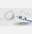 Futuristichand robot security controls futuristic