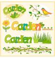 garden set vector image vector image