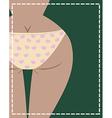 Girl in underwear vector image vector image