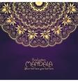 Golden mandala pattern design template Vintage vector image vector image