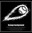 grunge black tennis background vector image
