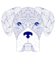 head of dog on white background vector image vector image