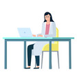 hospital consultation doctor with laptop vector image