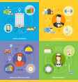 hotel service concept icons set vector image